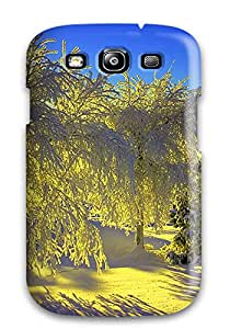 Premium Snow Covered Trees Back Cover Snap On Case For Galaxy S3