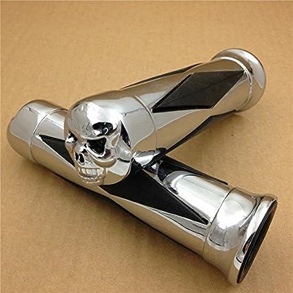 HTT Motorrad Chrom Totenkopf Diamon Hand Grip Lenkergriffe 2,5/cm 25/mm f/ür Honda Shadow Magna VTX 1300/1800/Goldwing GL 1200/1500