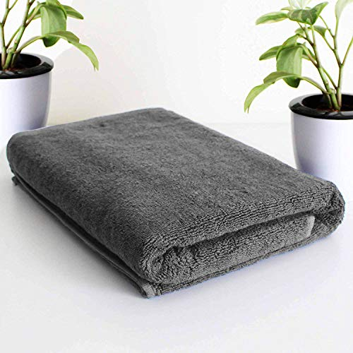 Roseate Elegance 100% Cotton (550 GSM / 70×140 cm) Large Bath Towel Ultra Soft Super Absorbent/Anti Bacterial (Grey…