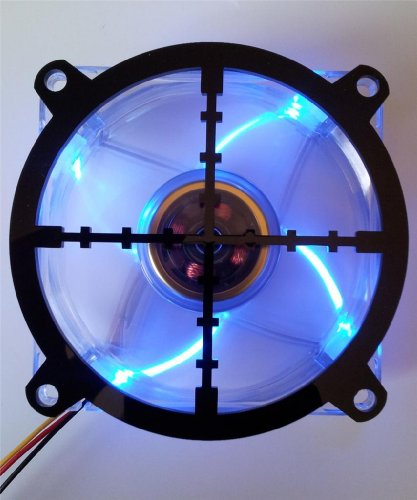 Custom Acrylic Sniper Scope Crosshair Computer Fan Grill 92mm