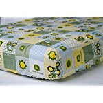 Tractor-Fitted-Crib-Sheet-displaying-John-Deere-Tractors-and-Logos