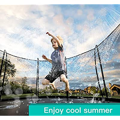 NEOROD Trampoline Sprinkler Waterpark Thicken Heavy Duty Sprinkler Hose- Kids Fun Summer Outdoor Backyard Water Game Toys Accessories for Boys & Girls ,Made to Trampoline Safety Net Enclosure (39 ft): Toys & Games