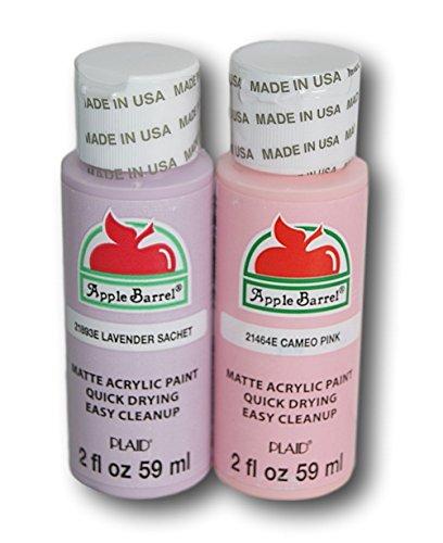 Apple Barrel Acrylic Paint Set - Lavender Sachet and Cameo Pink (2 Ounces Each) -  Plaid Enterprises Inc, 9985413