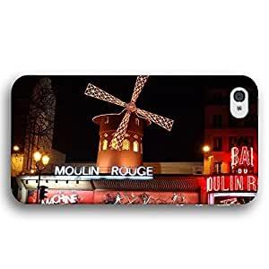 Moulin Rouge Playhouse in Paris France at Night Diy For Iphone 5C Case Cover Slim Phone Case