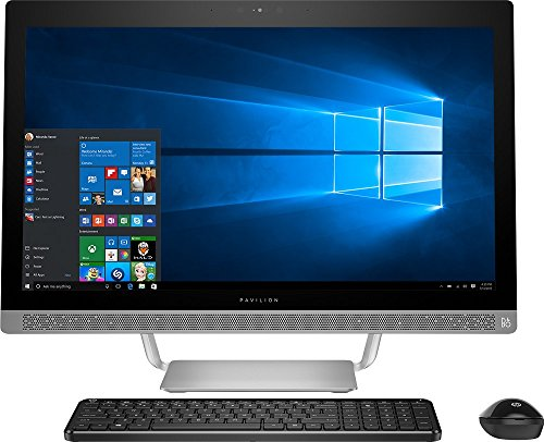 Premium HP Pavilion 27'' Full HD IPS Touchscreen All-in-One Desktop, Quad Core Intel i7-6700T, 12GB DDR4 RAM, 1TB 7200RPM HDD, DVD, 802.11AC, BT, HDMI, B&O Audio, Wireless keyboard and mouse-Win10 by HP