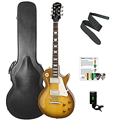 Epiphone Les Paul Standard PlusTop Pro Solid-Body Electric Guitar Kit with ChromaCast Les Paul Body Style Hard Case & Accessories