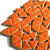 Craft Mosaic tiles - Glazed Ceramic Triangles - Popsicle Orange