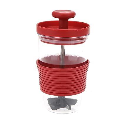 Anself Vaso de exprimidor manual copa de exprimidor Mini DIY mezclador manual de Leche Frutas de