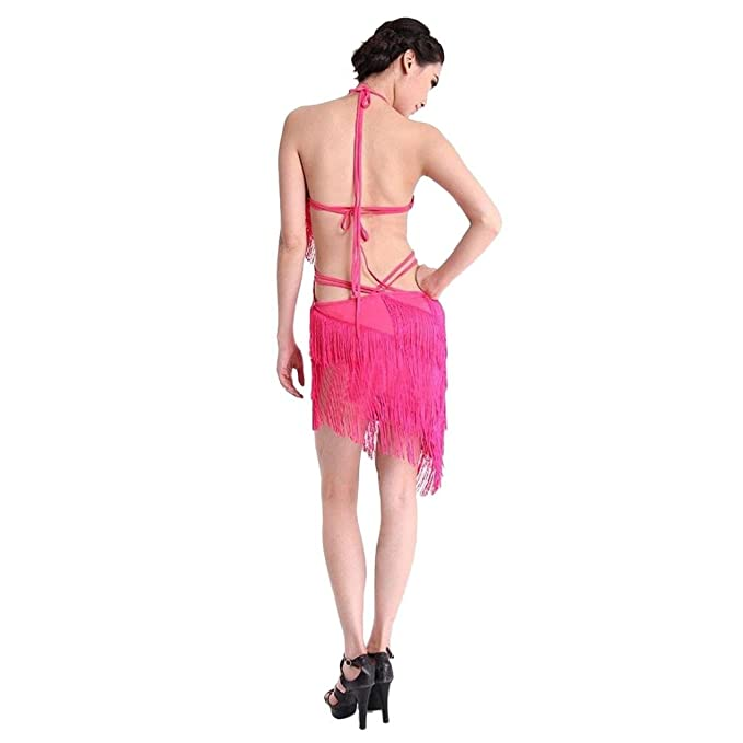 a6b0e33703ec Amazon.com  Eyekepper Sexy Tassel Fringe Backless Salsa Samba Rumba ...