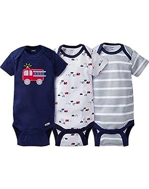 Baby Boys' 3 Pack Variety Bodysuits