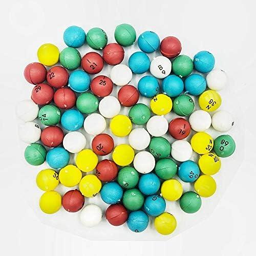 Gadpiparty 100 Pi/èces Boules de Bingo Tombola Boules en Plastique Remplacement Num/érot/ées Pong Balles pour Bingo Jeux Party Favor