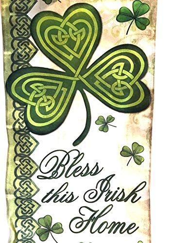 Bless This Irish Home Banner | St Patricks Day Irish Sign | Lucky Shamrock Welcome Sign