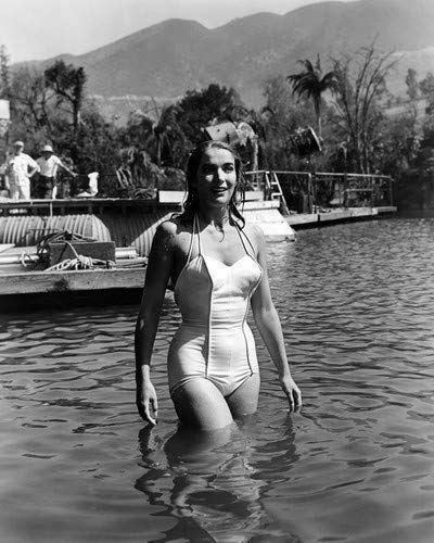 Julie Adams in Creature from the Black Lagoon Candid in white swimsuit in water 16x20 Poster