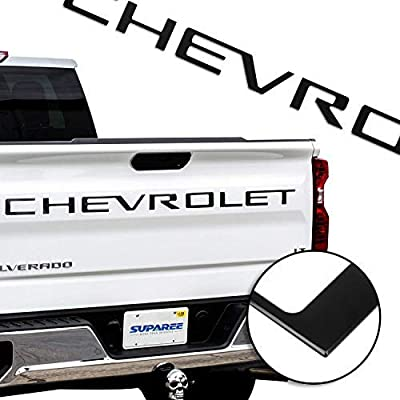 SUPAREE 2020 2020 Silverado Tailgate Letters Insert 3D Raised High Grade ABS Plastic Badge Nameplates Sticker - Matte Black: Automotive