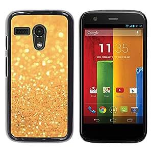 YOYOYO Smartphone Protección Defender Duro Negro Funda Imagen Diseño Carcasa Tapa Case Skin Cover Para Motorola Moto G 1 1ST Gen I X1032 - brillo de polvo de oro brillante sol amarillo