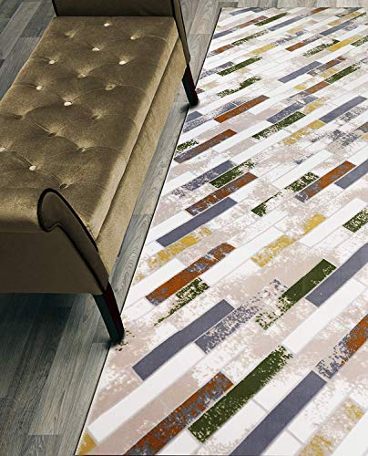 ORFA HOME Custom Size Hallway Runner Rug, Slip Resistant, 31 inch Wide X Your Choice of Length, Colorful, 31 inch X 8 feet (Rugs Custom Made)