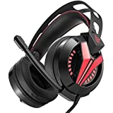 Viedo Gaming Headset Gaming Headphone Hifi Bass Stereo Game Headphone Led Flash Light & Noise-