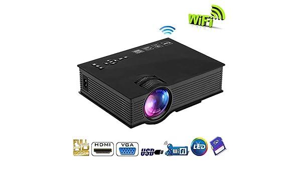 KAIDILA Proyector, Originales lúmenes UC46 WiFi HD Mini proyector ...