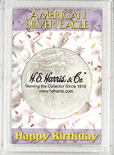 Harris 2×3 Happy Birthday Holder- SILVER EAGLES by H.E. Harris