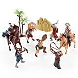 Roman Legion Warriors Military Soldier Action Figures Historical Playset (Set of 7)