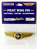 Kids Aviator Airplane Pilot Wing Plastic Pin Party Favor