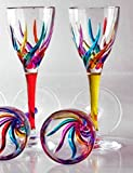 GLASSWARE - ''VENETIAN CARNEVALE'' CORDIAL GLASSES - SET OF FOUR