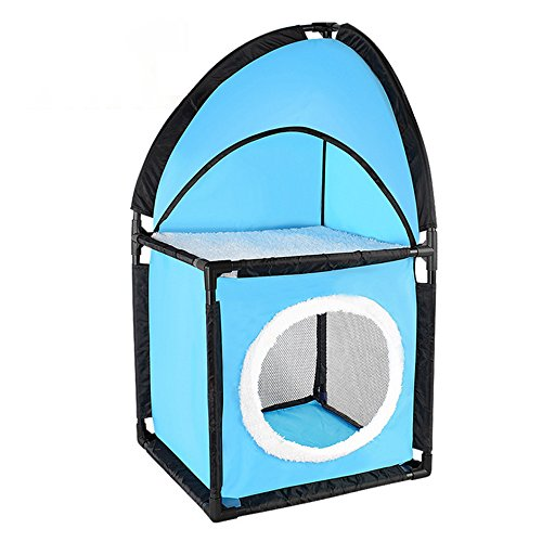 Curious Cat Cube Bed Kitty Play House Two Tier Cat Corner Tower