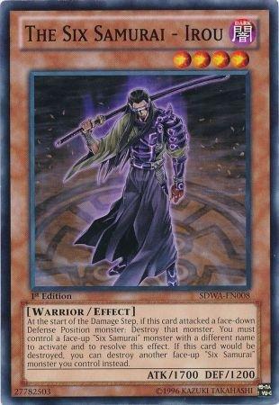 Yu-Gi-Oh! - The Six Samurai - Irou (SDWA-EN008) - Structure Deck: Samurai Warlords - 1st Edition - Common