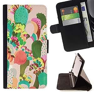 Momo Phone Case / Flip Funda de Cuero Case Cover - Pintura colorida Art México - Samsung Galaxy E5 E500