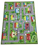 City Street Map Kids' Rug with Roads Kids Rug Play