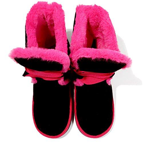 indoor e simpatico matura extra spessa Il Caldo di DogHaccd peluche inverno uomini cartoon con rosso1 home slittamento pacchetto cotone pantofole donne anti pantofole wITSxqg7