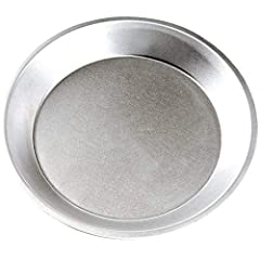 """Bake your most popular pies to perfection with this 10"""" aluminum pie pan.        Great for bakeries and cafes, this 10"""" pie pan is perfect for baking your specialty pies, quiches, and tarts. With its simple design, this pie pan offers ..."""