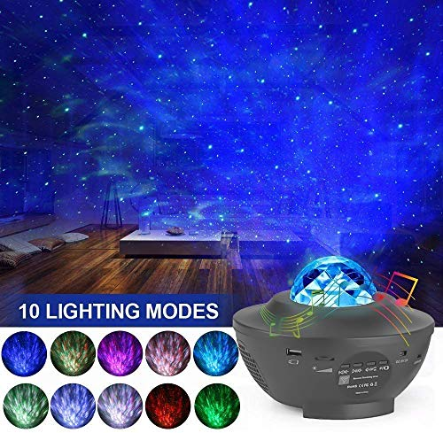 Night Light for Kids, 3 in 1 Star Projector w/LED Nebula Cloud for Bedroom/Game Rooms/Home Theatre/Night Light Ambiance with Bluetooth Speaker, Voice Control& Remote Control