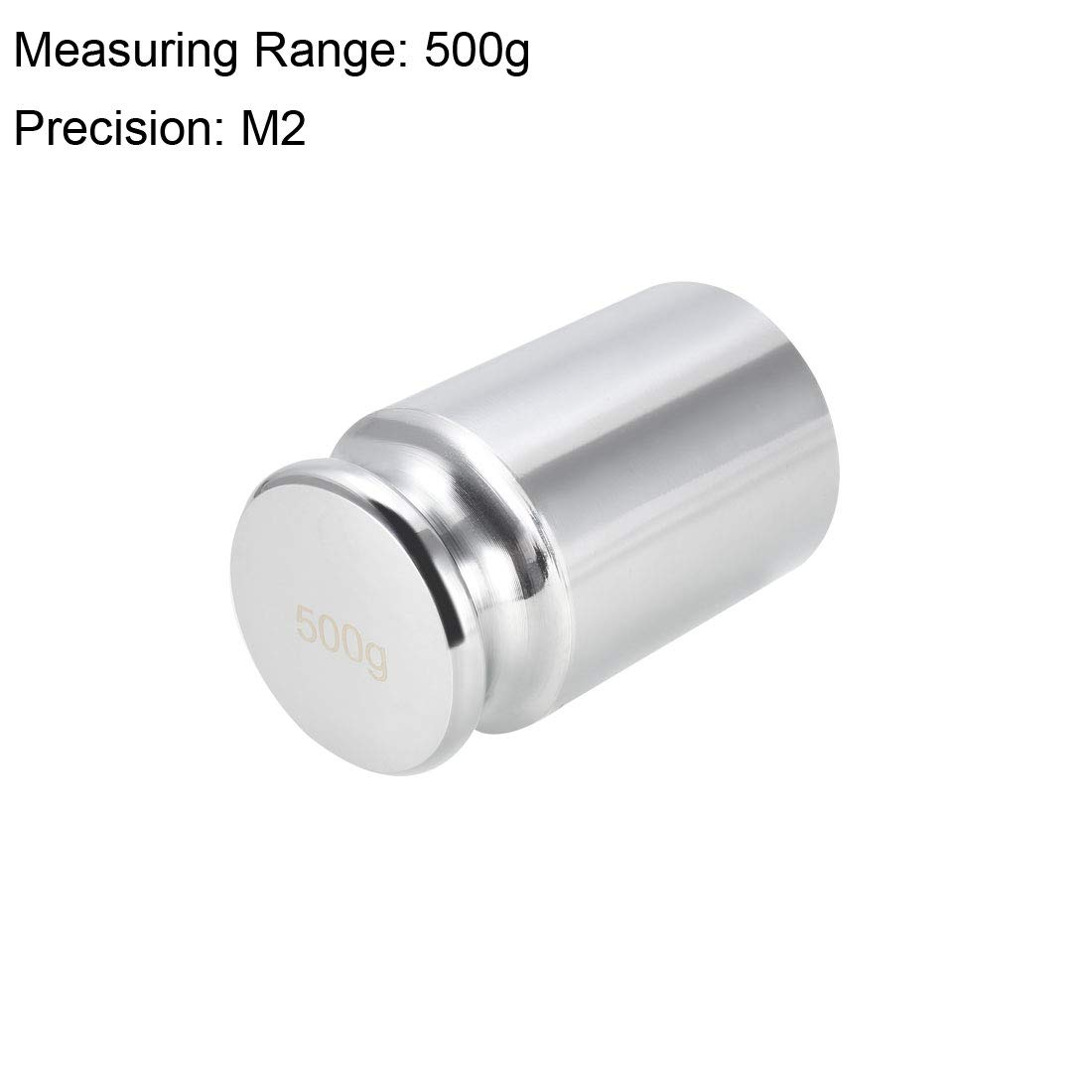 sourcing map Gram Calibration Weight 500g M2 Precision Chrome Plated Steel for Digital Balance Scales