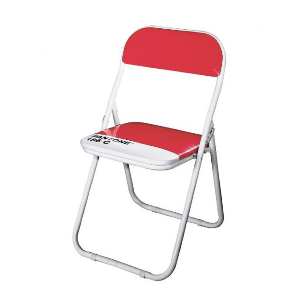 Amazon com  Pantone Chair Ruby Red 186C  Kitchen   Dining. Pantone Folding Chairs For Sale. Home Design Ideas