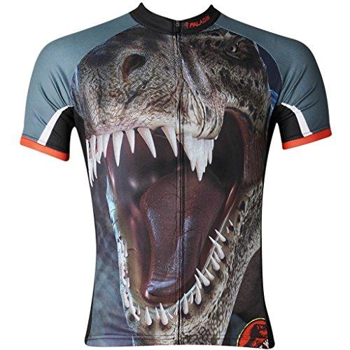 Paladinsport Men's Tyrannosaurus Rex Brown Short Sleeve Cycling Jersey Size XXL