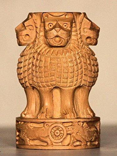 Rajasthani Decor Wooden handcrafted ashok stambh ( Ashoka Pillar) figurine table decor pen ()