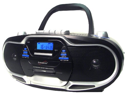 Supersonic SC744 CD Boombox with MP3 and Cassete Player (...