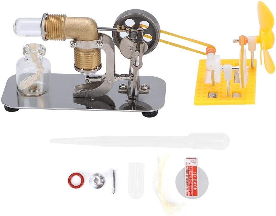 Fdit Motor Stirling de Alta Temperatura con Accesorios de Bricolaje Educación física Juguete Stem