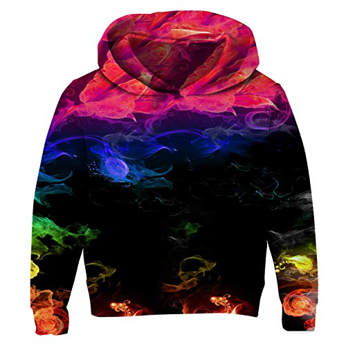 (Uideazone Boys Stylish 3D Digital Print Pullover Hoodies Hooded Sweatshirt for Casual)