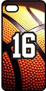 Basketball Sports Fan Player Number 16 Black Plastic Decorative iphone 6 plus Case