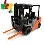 AITING inertia car Forklift truck fork Lift with Pallet+1pcs Trash Cans