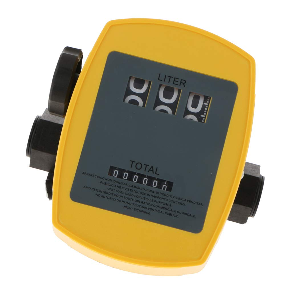 Flameer Mechanical Fuel Flow Meter Oil Meter 1/% Accuracy 20L-120L//Min 1Inch Inlet Fuel Meter for Non-Commercial Use