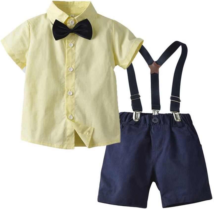 Winter Kids Baby Boy Gentleman Shirt Tops+Long Pants Formal Party Clothes Set MD