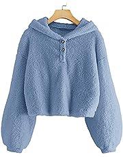 YBENLOVER Kinderen meisjes capuchontrui fleece hoodie Sherpa Sweatershirt warme teddy trui