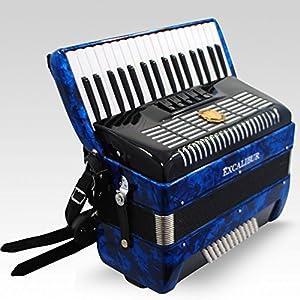 Excalibur German Weltbesten UltraLite 72 Bass Piano Accordion - Blue