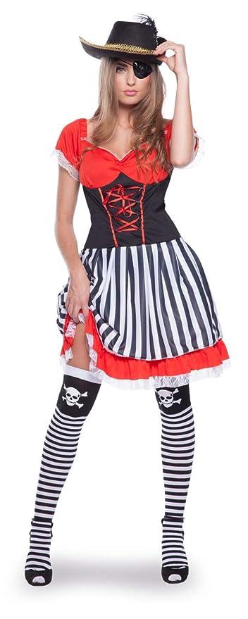 Folat 63324 Pirata Disfraz de los años 60 para Mujer (2 Piezas, Talla L/XL)