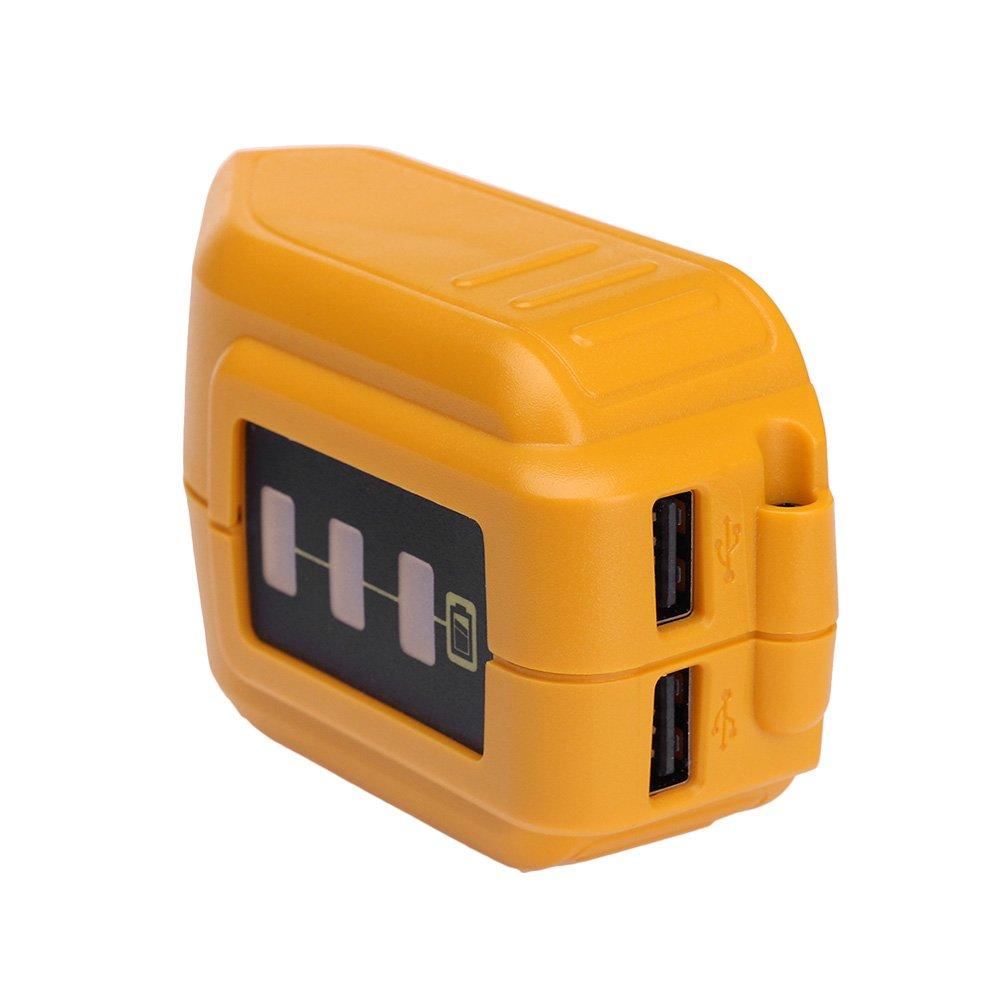 USB Power Source DCB090 for DEWALT 14.4V 18V/20V Max Li-ion Battery Charging Adapter for Mobile Phone Speaker Power Supply LPD