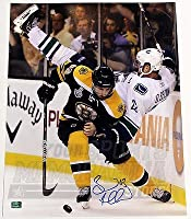 Brad Marchand Boston Bruins Signed Autographed Finals Sedin Flip 16x20