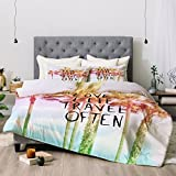 Deny Designs Lisa Argyropoulos Love Life Travel Often Tropical Comforter Set, Queen